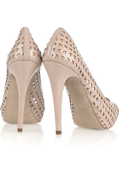 Pink Perforated Peep Toes From Hm by Miu Miu Perforated Patent Leather Peep Toe Pumps Net A