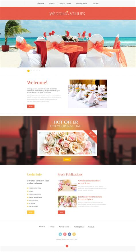 wedding planner website template wedding planner responsive website template 47801