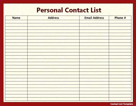 excel address list template 12 excel address list template exceltemplates