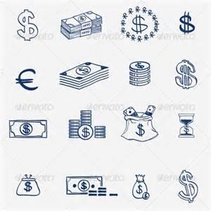 doodle money money icons set doodle sketch by undrey