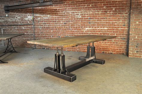 Retro Metal Kitchen Cabinets by Post Industrial Conference Table Vintage Industrial