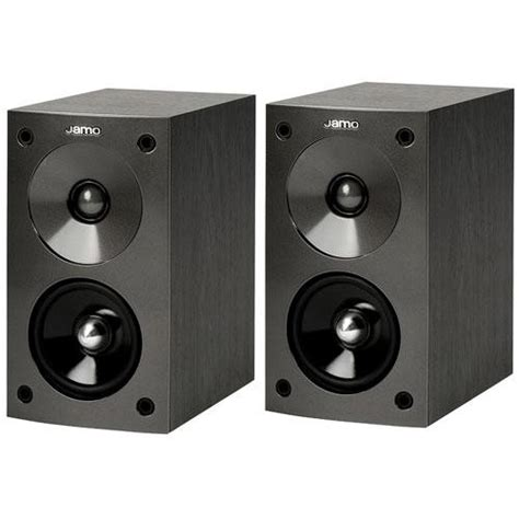 jamo s 602ba bookshelf speaker pair black ash 86097 b h