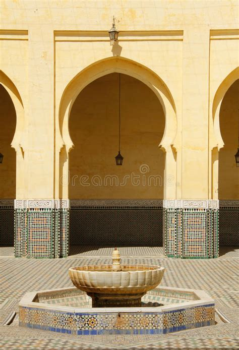 morocco meknes islamic arches  patio stock image