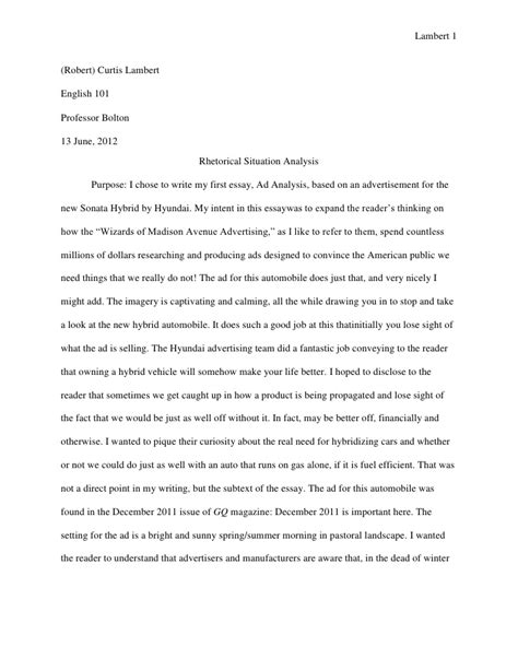 Sle Of A Rhetorical Analysis Essay by Analysis Essay Help Ssays For Sale