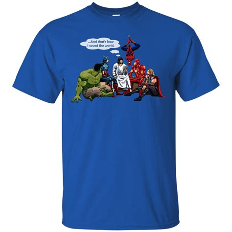 Tshirt Superheroes 22 From Ordinal Apparel jesus and superheroes shirt and that s how i saved the