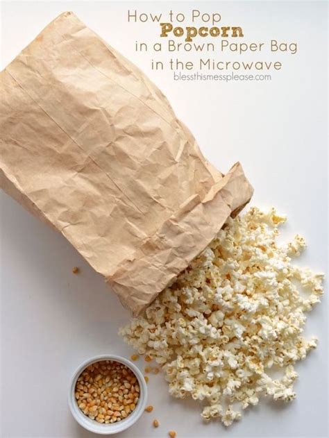 Popcorn In A Paper Bag In The Microwave - how to pop popcorn in a brown paper bag in the microwave