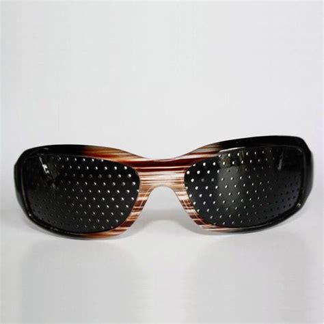 stenopeic glasses for eyesight improve brown pinhole