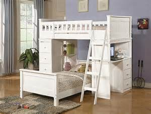 Bunk Bed With Desk And Storage White Bunk Beds With Storage And Desk Home Interiors
