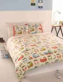 King Size Bedding Vintage Vintage Retro Vw Cervan Bedding Single Or