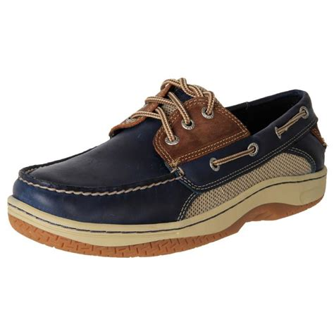 genuine sperry s stain water resistant leather casual