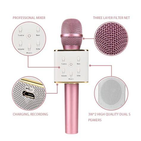 Mic Karaoke Bluetooth Q7 1 q7 karaoke microphone speaker wireless bluetooth karaoke