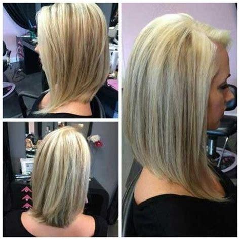 mid shoulder angled bob 2018 latest medium length inverted bob hairstyles