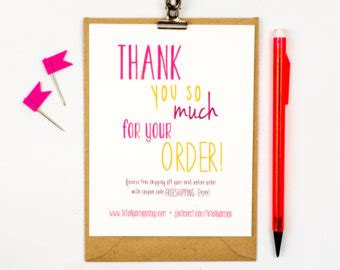 Free After Purchase Card Template thank you card printables for your creative by totallydesign