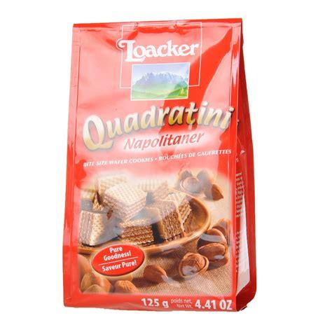 Loacker Quadratini Napolitaner by Loacker Quadratini Napolitaner Wafer Cookies 125g
