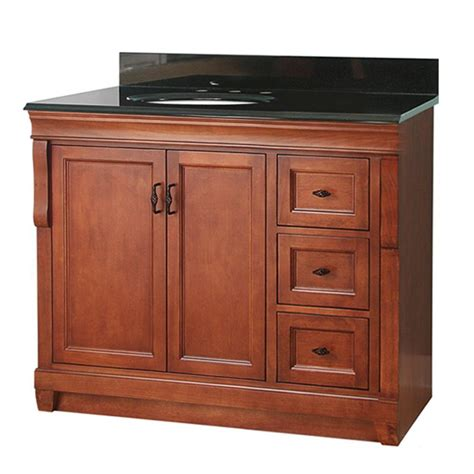 bathroom vanity with offset foremost naples 37 in w x 22 in d vanity in warm
