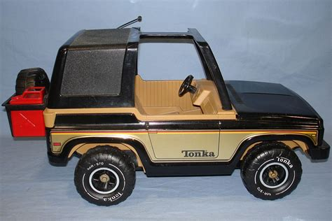 Tonka Jeep Vintage Tonka Corporation 4x4 Black Jeep Spare Tire