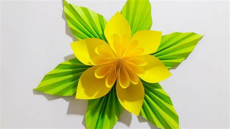 Flower Papercraft - origami easy paper flower l easy to make l paper