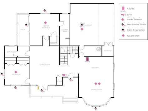 home security plans exle image house plan with security layout
