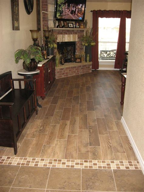 Floor Transition Ideas Transition With Wood Plank Tile Transition Ideas Pinterest Mosaics Tile And Mosaic Tiles
