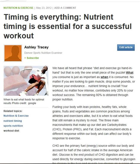 Nourishing Routine For by Nutrient Intake Timing To Workouts Nutrition