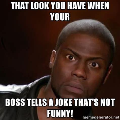 Meme Boss - that look you have when your boss tells a joke that s not