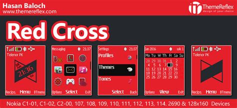 red themes for nokia 110 red cross theme for nokia c1 01 c1 02 c2 00 107 108