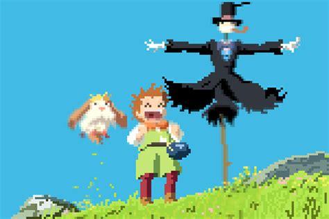 Anime 8 Bit by 1080p Studio Ghibli Anime 8bit Pixel 16 3