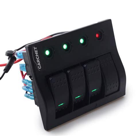 4 panel light switch aliexpress com buy marine rocker switch panel 4 led
