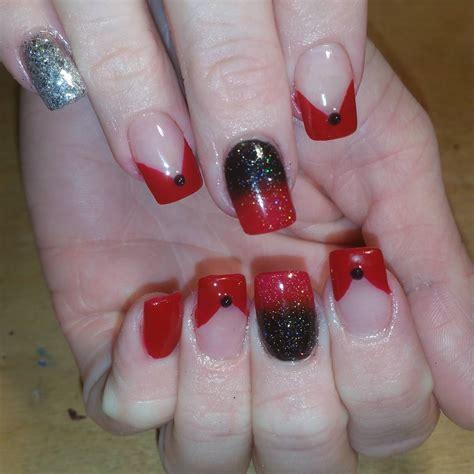 black  red nail art designs design trends