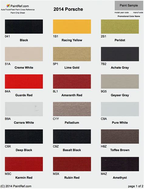 porsche red paint code paint chips 2014 porsche cayman