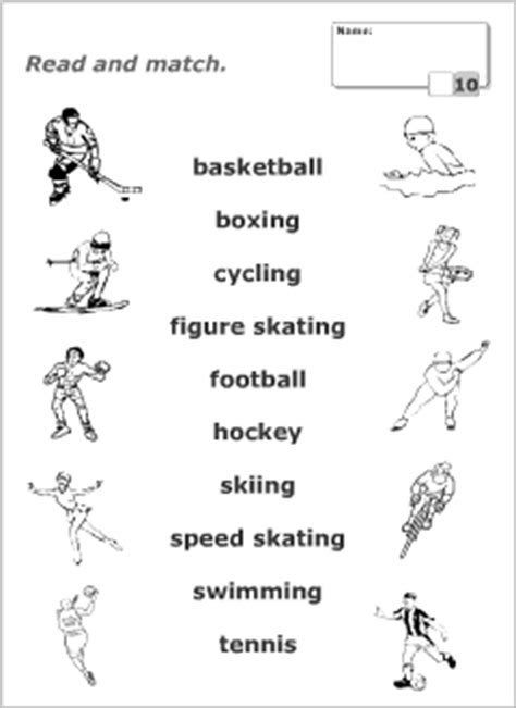 printable tennis quiz sport vocabulary for kids learning english printable