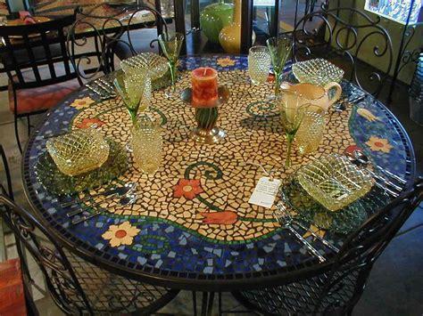 table top mosaic patterns 48 quot x30 quot h tile mosaic dining