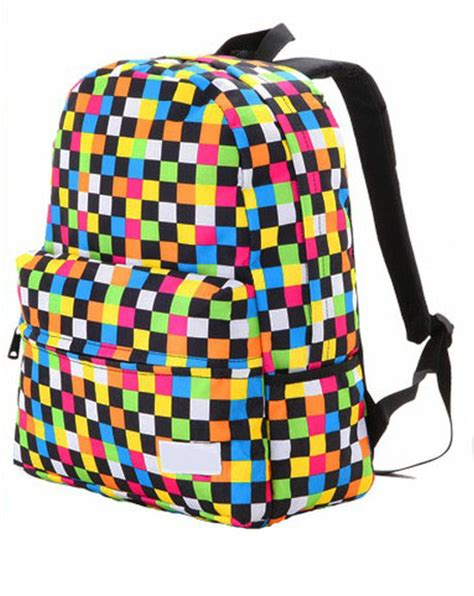 colorful backpacks cool colorful raibow backpack bag on luulla