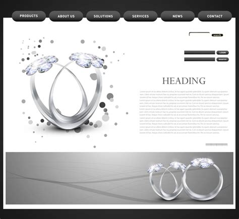 Website Template Presentation Diamond Ring Vector Design Free Vector In Encapsulated Postscript Chionship Ring Design Template