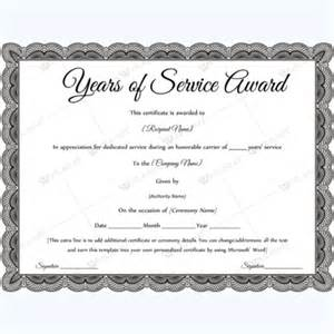 Recognition Of Service Certificate Template by Years Of Service Award Certificate Templates Word Layouts