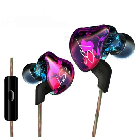 Headset Earphone Hi Fi Inear Knowledge Zenith Hifi Metal Bass With Mic kz zst hi fi stereo in ear wired hybrid earphone colorful with mic free shipping dealextreme