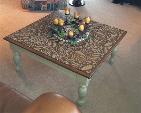 Painted Coffee Table Ideas 17 Best Ideas About Stencil Table On Stenciled Table Stencil Table Top And Throw