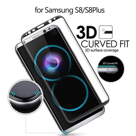 Tempered Glass Color Cover Tempered Glass Color Samsung J3 3d arc edge colored screen cover tempered glass screen protector for samsung galaxy s8 plus