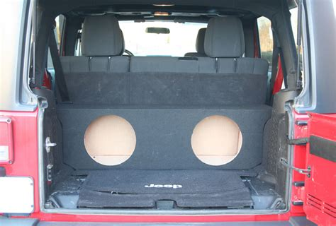 Jeep Wrangler Unlimited Subwoofer Box 2007 2013 Jeep Wrangler 4 Door Unlimited Dual 12 Subwoofer