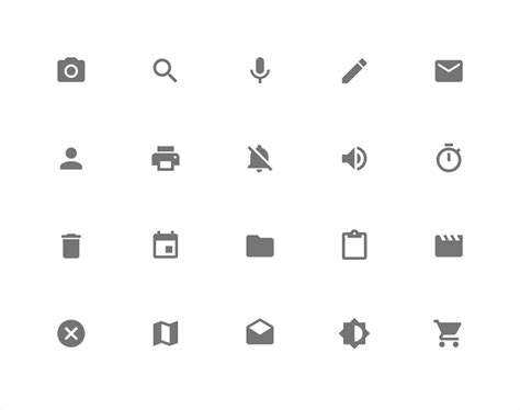Icons Style Google Design Guidelines | design principles