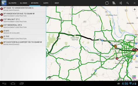 modot road conditions map modot map my