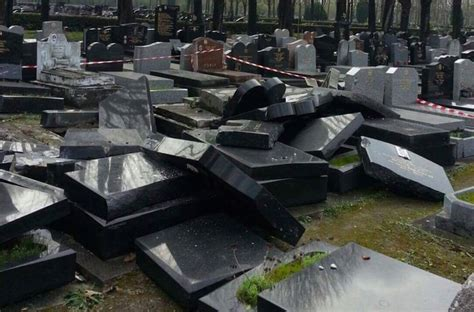 jewish section paris toppled graves near paris inspire conspiracy theories