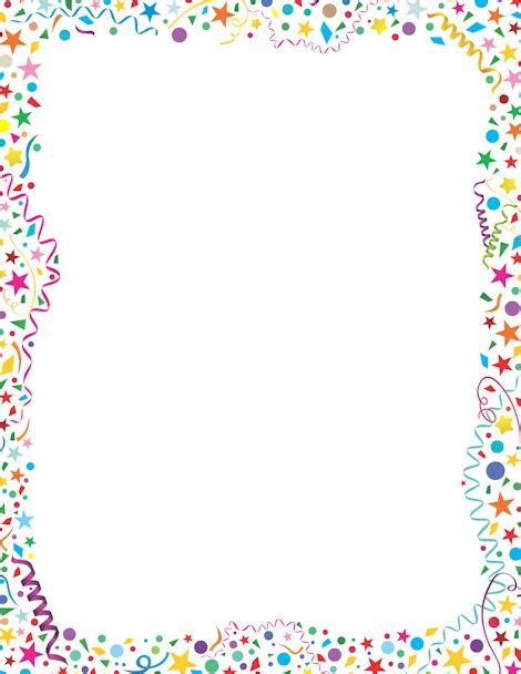 59 Best Birthday Borders Images On Pinterest Frames Happy Brithday And Printables Free Printable Birthday Borders And Frames