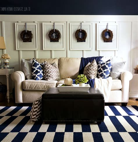 Blue And Brown Decor by Brown And Blue Living Room Decor Home Decorations