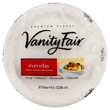 Vanity Fair Disposable Plates by Vanity Fair Premium Plates Everyday 9 Inch