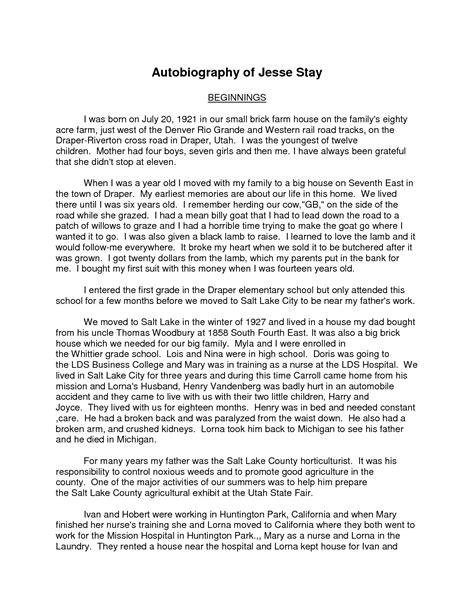 Autobiographical Essay Exle by Best Photos Of Autobiography Essay 28 Images Autobiographical Essay Best Photos Of