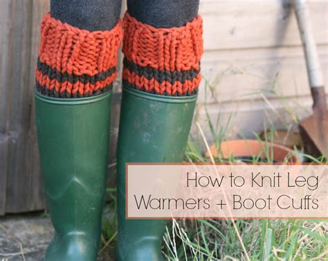 how to knit boot cuffs how to knit leg warmers boot cuffs stitch and unwind