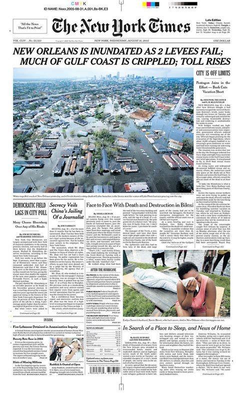 new york times front page newspaper the front page photos that we can t forget from hurricane