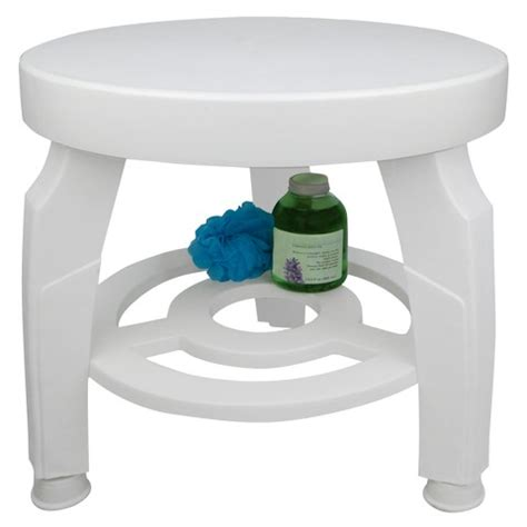 Plastic Stools For Showers by Ideaworks Swivel Shower Stool White Target