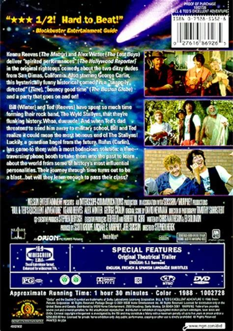 bill teds excellent adventure dvd  dvd empire